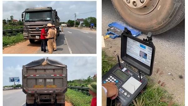 CSGT Quảng Bình tăng cường xử lý các phương tiện chở quá khổ, quá tải
