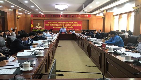 Ban chỉ đạo Trung ương về Phòng chống tham nhũng làm việc tại Cao Bằng