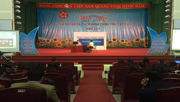 Hội thi tuyên truyền về cải cách hành chính tỉnh Cao Bằng năm 2019