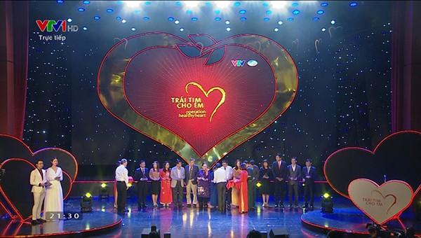 """Tập thể CBNV Công ty Macca Nutrition nhắn tin ủng hộ  chương trình """"Trái tim cho em"""""""