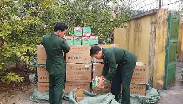 Bộ Đội Biên Phòng Lào Cai bắt giữ hơn 600 kg pháo vận chuyển qua biên giới