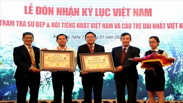 Rừng tràm Trà Sư đón nhận 2 kỷ lục quốc gia