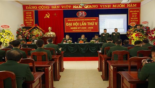 Đảng bộ Đồn Biên phòng Mương Khương tổ chức đại hội Đại hội nhiệm kỳ 2020 - 2025