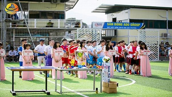 Ấn tượng lễ khai mạc lần thứ nhất Giải bóng đá bất động sản Hòa Lạc 2020