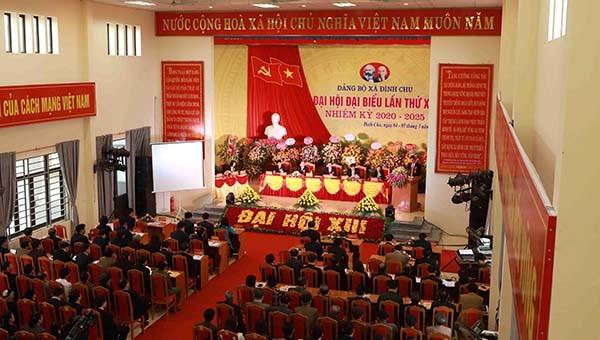 Vĩnh Phúc: Đại hội điểm cấp cơ sở tại Đảng bộ xã Đình Chu