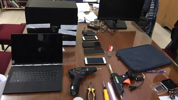 Bắt giữ nhóm nghi can chuyên lắp thiết bị quay lén tại khách sạn