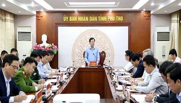 Chủ tịch UBND tỉnh Bùi Văn Quang chủ trì thống nhất nội dung, điều chỉnh kế hoạch tổ chức Giỗ Tổ Hùng Vương năm 2020.