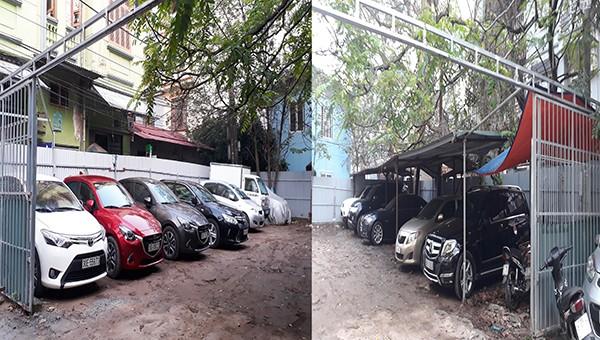 Bãi đậu xe trái phép tại ngõ 37, đường Trần Quốc Hoàn, phường Dịch Vọng Hậu, quận Cầu Giấy, TP Hà Nội.