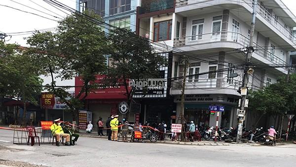 Diễn tập phong tỏa tuyến phố ở Bắc Giang
