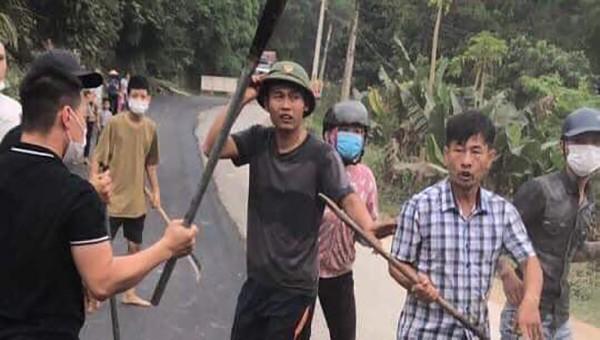 Công an huyện Lương Sơn mở rộng điều tra vụ việc hủy hoại tài sản, đánh người tại thị trấn Lương Sơn