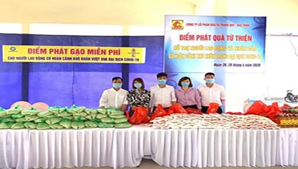 Chương trình ATM gạo miễn phí của tỉnh Bắc Ninh được khởi động tại Khu công nghiệp Thuận Thành 3.