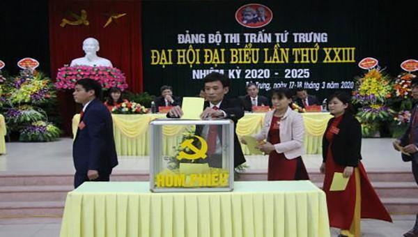 Vĩnh Tường tập trung tổ chức thành công Đại hội Đảng bộ cấp cơ sở