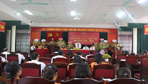 Đảng bộ Sở Tư pháp Vĩnh Phúc tổ chức thành công Đại hội lần thứ VII nhiệm kỳ 2020-2025