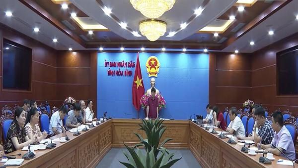 UBND tỉnh Hoà Bình họp, đôn đốc việc thực hiện tiến độ các chương trình dự án