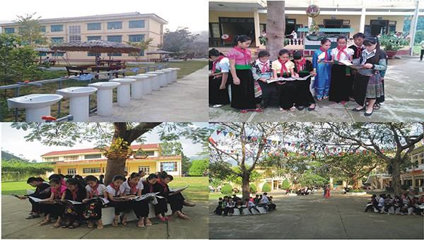 Mô hình thư viện xanh do Công đoàn trường PTDTNT THCS huyện Văn Chấn, tỉnh Yên Bái xây dựng thu hút được đông đảo cán bộ, giáo viên và học sinh hưởng ứng.