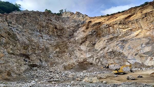 Mỏ đá Hoàng Anh nơi xảy ra vụ nổ mìn