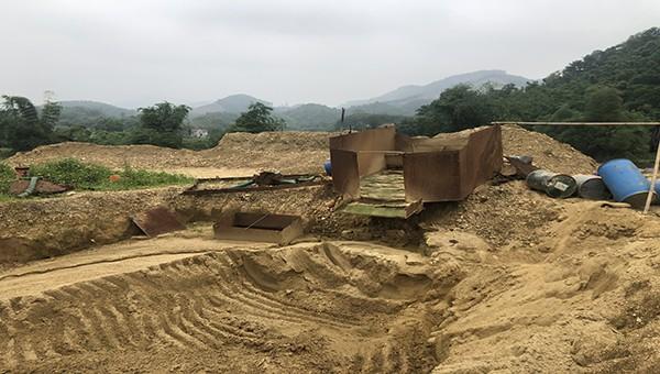 Chính quyền xã Cây Thị (Thái Nguyên) để ngang nhiên khai thác vàng trái phép