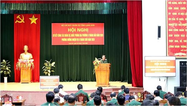 Hội nghị sơ kết công tác công tác quân sự quốc phòng tỉnh Lạng Sơn 6 tháng đầu năm 2020