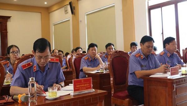 Các đại biểu tham dự hội nghị sơ kết của VKSND tỉnh Cao Bằng.