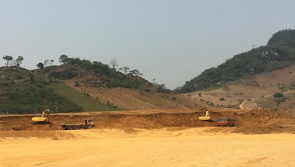 Khu đất thực hiện dự án Nhà máy Chế biến tinh bột sắn Thuận Châu