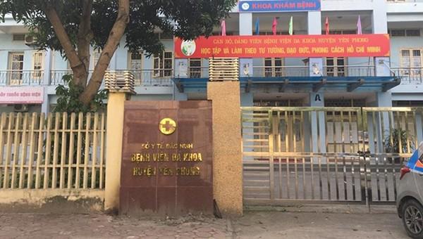 Sở Xây dựng Bắc Ninh đề xuất chủ trương đầu tư xây dựng Trung tâm Y tế huyện Yên Phong.