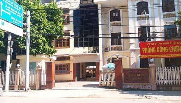 Trụ sở làm việc của Sở Tư pháp tỉnh Thái Nguyên