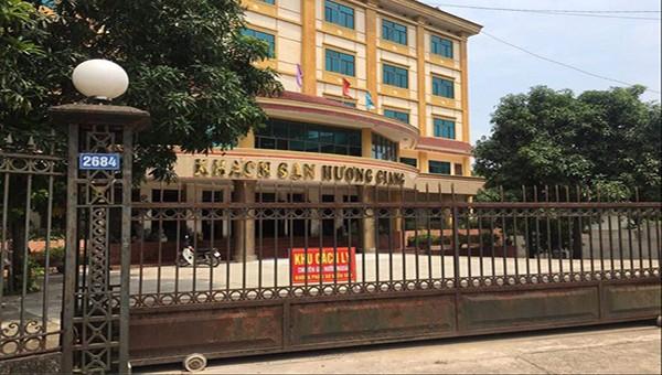 Khách sạn Hương Giang, nơi đoàn chuyên gia thực hiện cách ly tập trung.