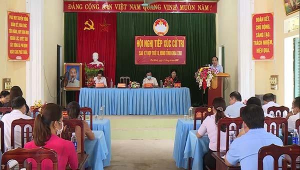 Hội nghị tiếp xúc cử tri xã Phú Bình huyện Chiêm Hoá.