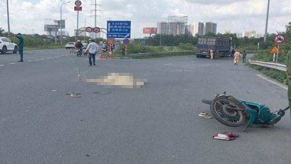 Vụ tai nạn giao thông trên đường Trần Nguyên Hãn, khiến 1 người tử vong tại chỗ.