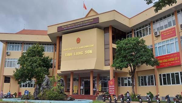Trụ sở Trung tâm phục vụ hành chính công tỉnh Lạng Sơn