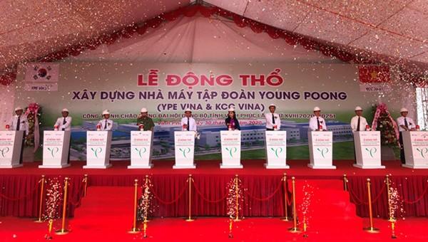 Vĩnh Phúc: Xây dựng nhà máy Tập đoàn Young Poong tại cụm công nghiệp Đồng Sóc Vĩnh Tường
