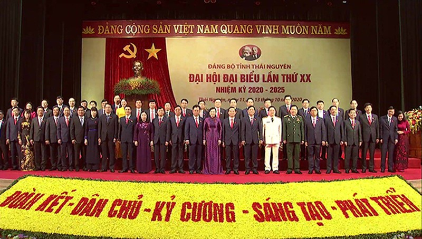 Ban Chấp hành Đảng bộ tỉnh Thái Nguyên khóa XX ra mắt Đại hội