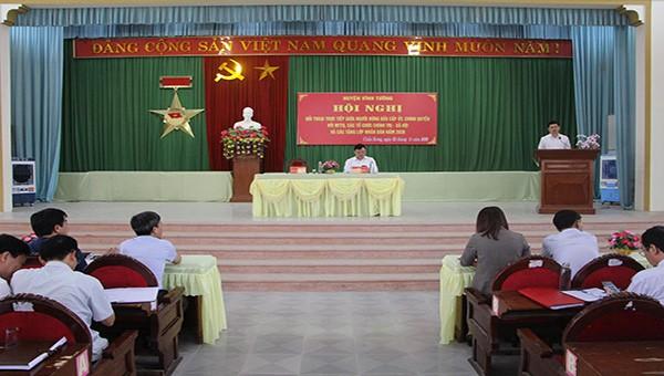Huyện Vĩnh Tường (Vĩnh Phúc) đối thoại với các tầng lớp nhân dân