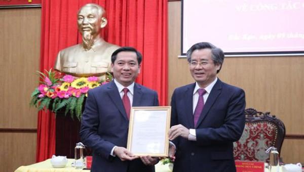 Ông Nguyễn Long Hải được điều động, bổ nhiệm làm Phó Bí thư Tỉnh ủy Bắc Kạn