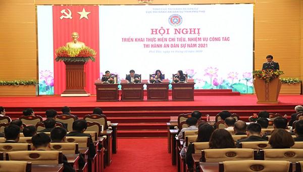 Phú Thọ: triển khai công tác Thi hành án dân sự năm 2021.