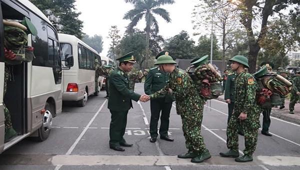 Bộ Chỉ huy Bộ đội Biên phòng Cao Bằng tiếp nhận học viên của Học viện Biên phòng lên tăng cường tham gia phòng chống dịch