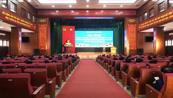 Hội nghị tổng kết công tác lãnh đạo, chỉ đạo nhiệm vụ năm 2020, triển khai nhiệm vụ năm 2021 của TP Chí Linh (Hải Dương).