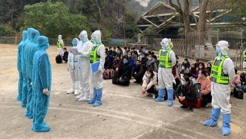 100 công dân được Trung Quốc trao trả qua cửa khẩu Lý Vạn, Cao Bằng