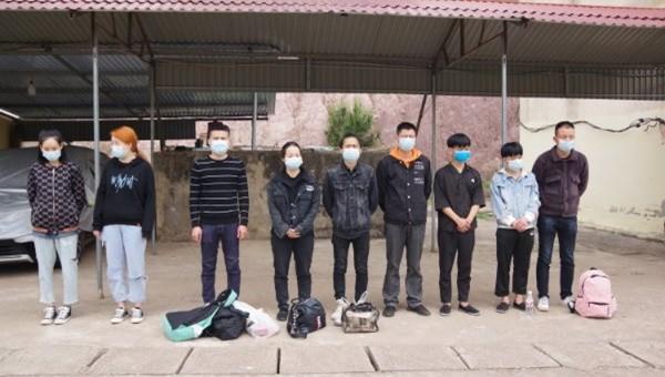 9 đối tượng người Trung Quốc bị bắt giữ khi đang nhập cảnh trái phép vào Việt Nam.