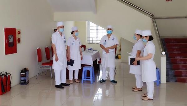 Bệnh viện sản nhi Vĩnh Phúc diễn tập tình huống phòng chống Covid-19 tại cơ sở mới