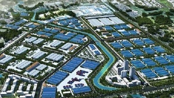 Phối cảnh Khu công nghiệp Bá Thiện - phân khu 1, huyện Bình Xuyên.