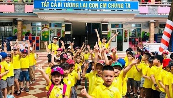 Trường mầm non Hồng Hà: Mỗi ngày đến trường là một ngày vui