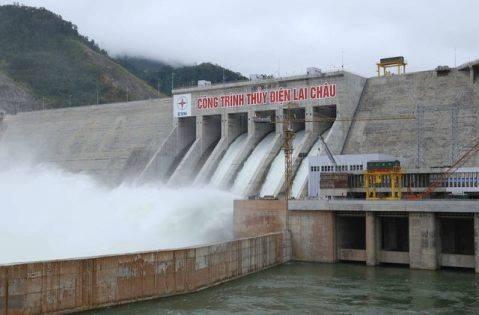 Thủy điện Lai Châu xả lũ (Ảnh minh họa)