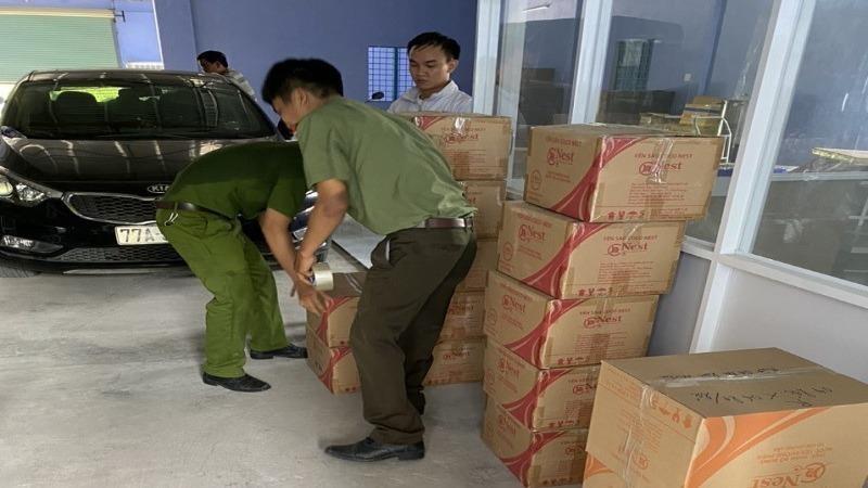 Phát hiện gần 6.000 hũ yến có dấu hiệu vi phạm sản xuất nước yến tại Bình Định