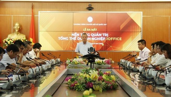 Thứ trưởng Bộ Thông tin và Truyền thông Nguyễn Thành Hưng phát biểu tại Lễ ra mắt.