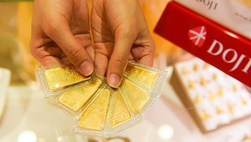Vàng SJC trong nước đang niêm yết ở mức 54,82 triệu đồng/lượng