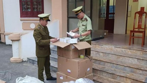 Lô hàng bị lực lượng QLTT Lạng Sơn bắt giữ.