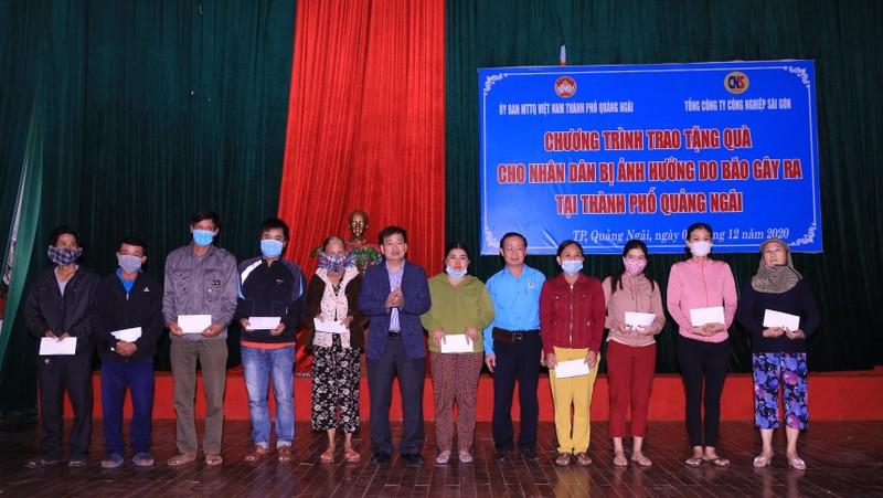 Tổng Công ty Công nghiệp Sài Gòn chung tay cùng bà con Quảng Ngãi vượt qua bão lũ