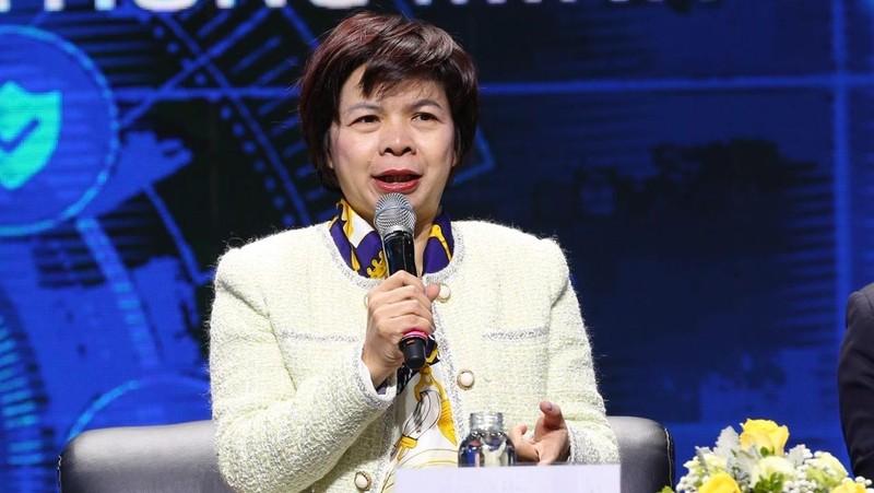 Bà Đặng Thúy Hà - Giám đốc khu vực miền Bắc Nielsen Việt Nam phát biểu tại Tọa đàm.