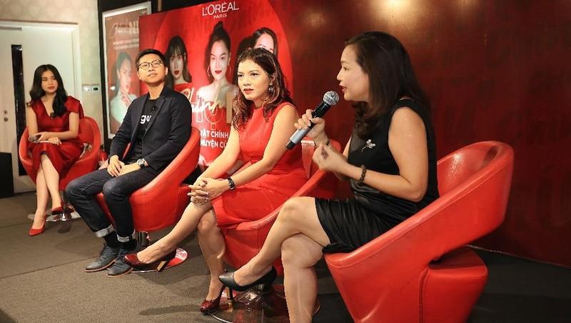Đại diện nhãn hàng L'Oreal Việt Nam chia sẻ về các hoạt động sắp tới.